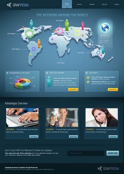 corporate web layout design 51 impressive web design tutorials