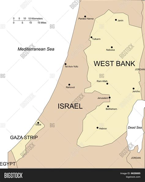 how big is the west bank west bank and gaza major cities and surrounding countries