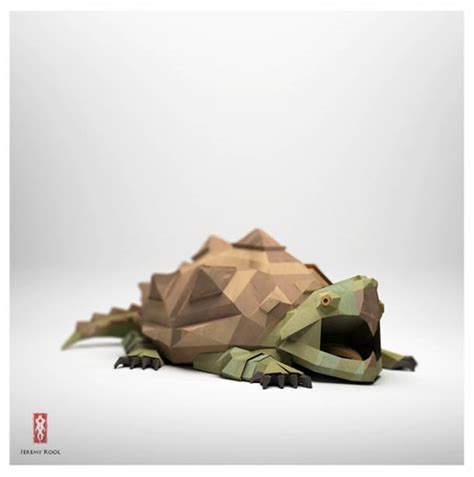 Origami Animals 3d - digital meets analog inspiring dreamy digital origami