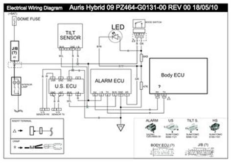 2012 toyota auris vss1 electrical wiring
