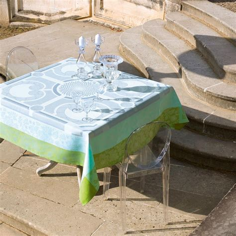 nappe table jardin nappe jardin royal fontaine 100 coton nappes la table le jacquard fran 231 ais