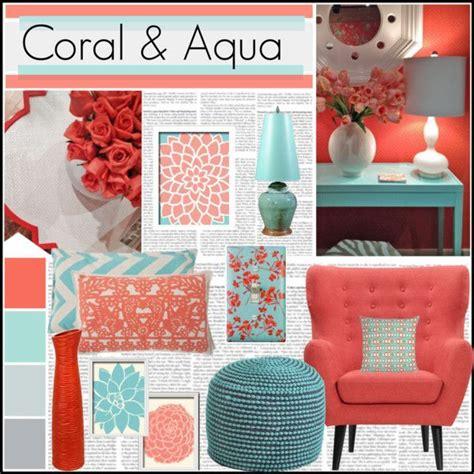 coral color home decor quot coral aqua quot by meggiechelle on polyvore decorating