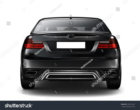 auto rear view generic black car rear view stock photo 343519427
