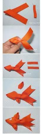 Origami Ribbon Fish - diy fish ribbon hairbows diy and crafts
