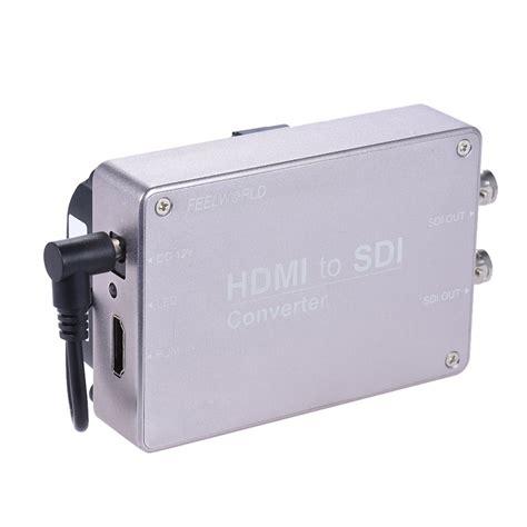 hdmi entrada feelworld hdmi para sdi audio converter adaptador