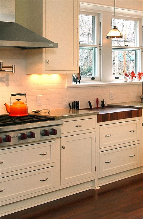 In House Kitchens Custom Butcher Block Countertops With Knife Block Option