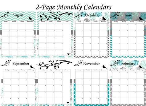 printable planner calendars 2015 6 best images of 2015 planning calendar printable 2013