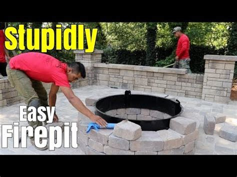 super easy fire pit build diy   build  patio