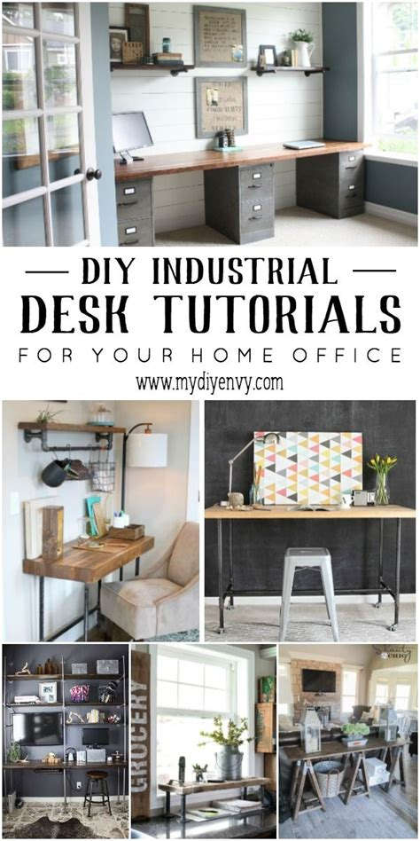 industrial style home office desk 25 best ideas about industrial desk on pipe