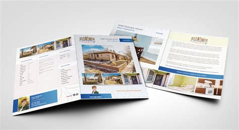 4 page brochure template denver web design real estate
