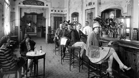 of the 1920s what brave new world on the origin of the bar stool