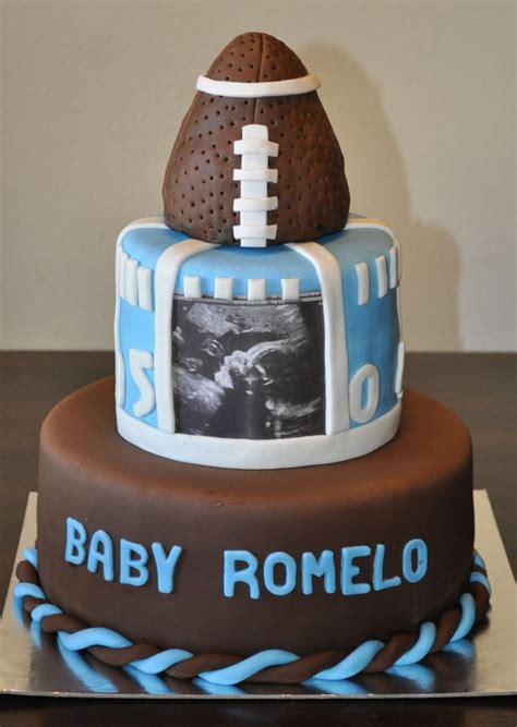 football themed baby shower decorations football themed baby shower cake by summer s sweet treats
