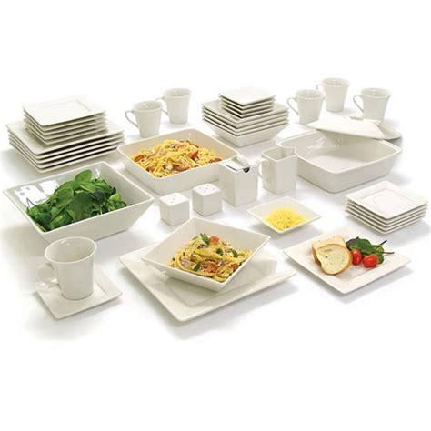 dinner set dinnerware kitchen banquet square dishes plates