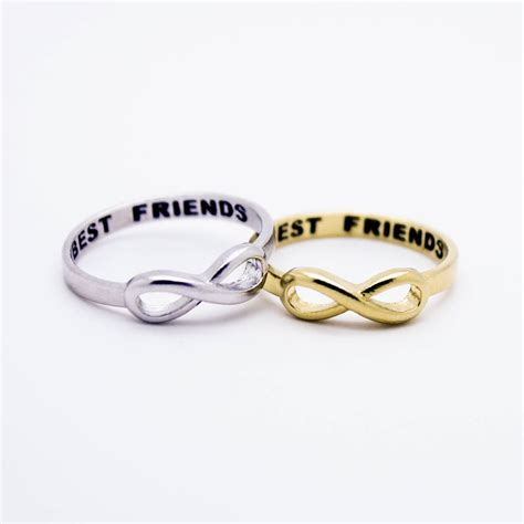 best friends infinity sterling silver ring imsmistyle