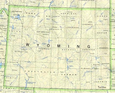 political map of wyoming map of wyoming political map worldofmaps net