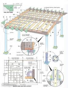 plan to build a house pergola plans woodworking blueprints and projects