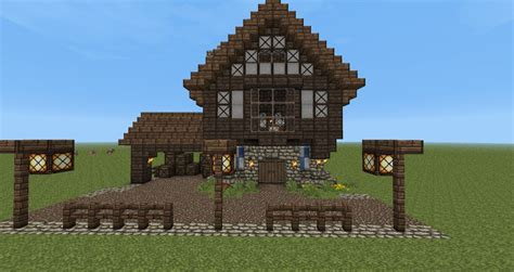 Small Cabin Blueprints by Medieval Townhouse Minecraft Project