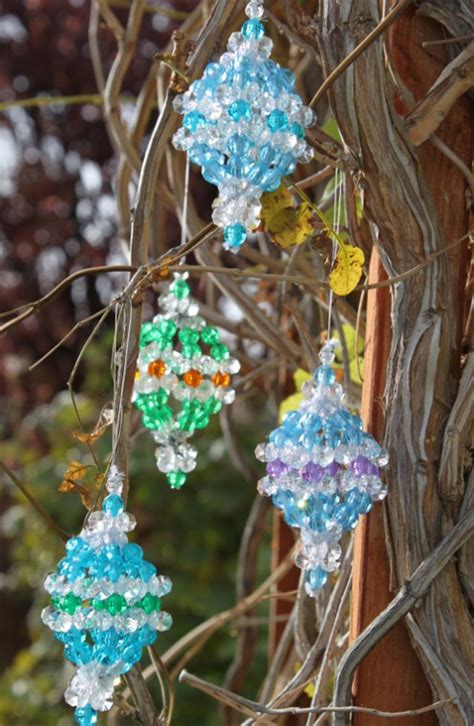 Unique Handmade Ornaments - unique ornament beaded pattern holidappy