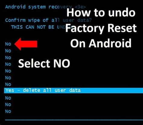 android undo how to undo a factory reset on android