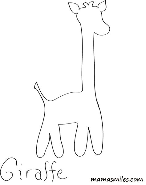 free giraffe with no pattern coloring pages