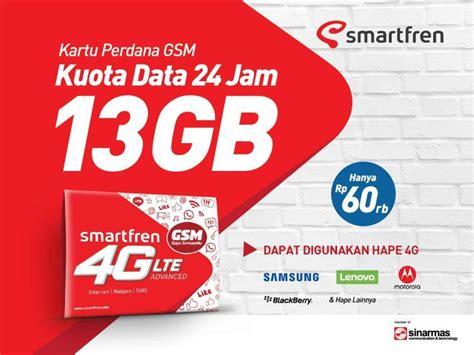 Smartfren 13 Gb Semarang smartfren luncurkan paket 4g gsm dengan total kuota 13 gb per bulan yangcanggih