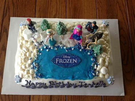 frozen cake  birthday idea themes pinterest