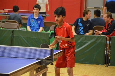 2017 Us Open Day 1 Nandan Naresh Us Chion Table Tennis Chicago