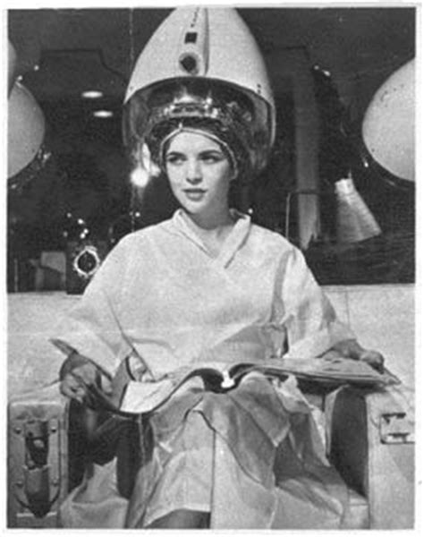 under the dryer in curlers under a salon dryer looks like this picture is from an