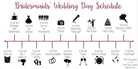 catholic wedding day timeline wedding schedule timeline with icons customized and