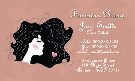 hair business cards templates retro hair stylist business card design 601141