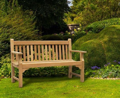 5ft garden bench taverners teak hardwood 5ft garden bench 1 5m