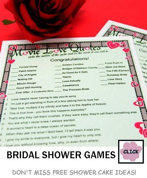 free printable bridal shower movie love quotes game free printable movie love quotes quotesgram