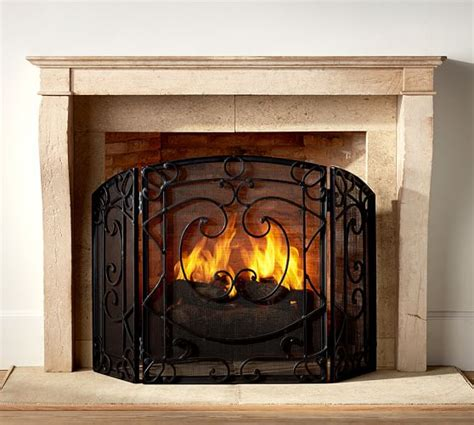 Pottery Fireplace by Aspen Fireplace Screen Pottery Barn