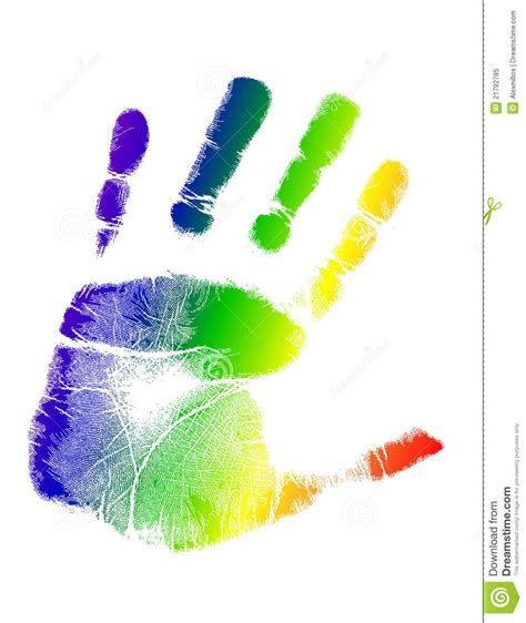design free stock photo illustration of a colorful bright colorful handprint illustration royalty free stock