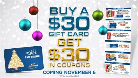 Landmark Cinema Gift Cards Canada - landmark cinemas buy 30 gift card get 30 in coupons canadian freebies coupons