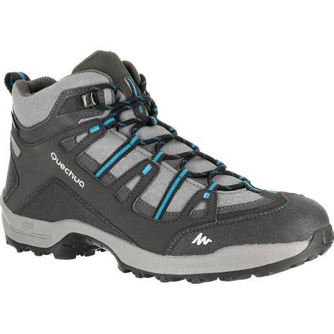 mens boots 100 arpenaz 100 mid s waterproof walking boots grey