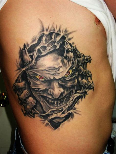 Demon Tattoo On Ribs | 30 unbelievable demon tattoos creativefan