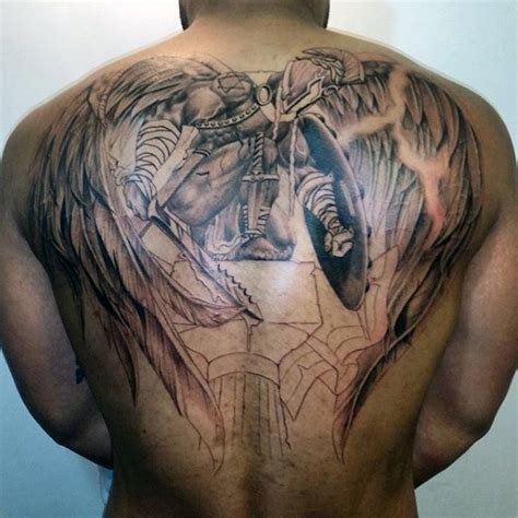 24 awesome angel tattoos on back