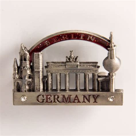 Souvenir Germany Magnet Kulkas Germany metal fridge magnet germany berlin attractions type 2 with arch