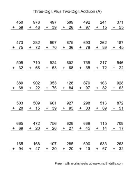 printable division worksheets 100 problems addition 187 addition worksheets with 100 problems free