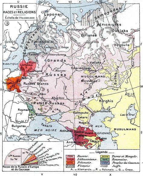russian empire map russia ethnic