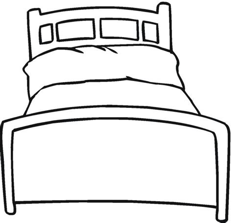 drawing of bed draw a bed colouring pages children s inspirational