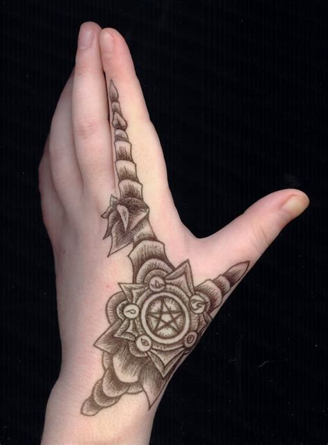 tattoo hand female pentacle armor hand tattoo by gizmodian on deviantart