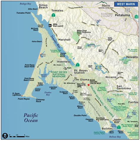 Bed And Breakfast Sonoma County Map Of Marin Amp Directions Maps Amp Transportation Marin