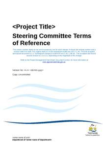 pmo terms of reference template steering committee charter template steering committee