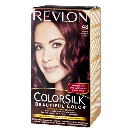 revlon hair dye colors revlon colorsilk 48 burgundy permanent hair color 1 0 kit