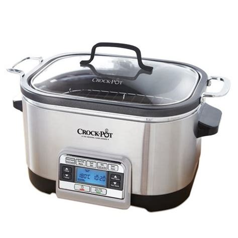 Rice Cooker Sanken 6 In 1 crock pot 5 in 1 digital multi cooker stainless steel ckcpscmc6 033 walmart canada