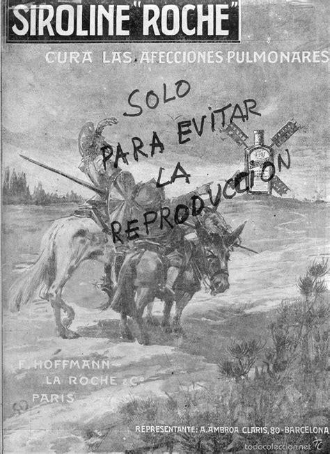 don quijote y sancho 1916 publicidad medicinas - Comprar