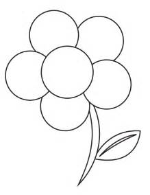flower to color flower templates for preschool coloring home