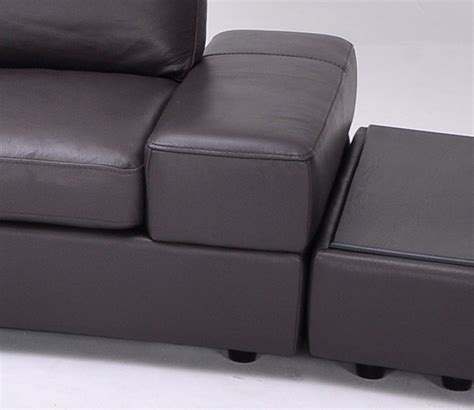 Lilac Leather Sofa by Lilac Espresso Grain Leather Sectional Sofa